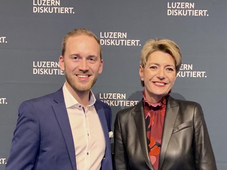 Luzern diskutiert mit Bundesrätin Karin Kelle