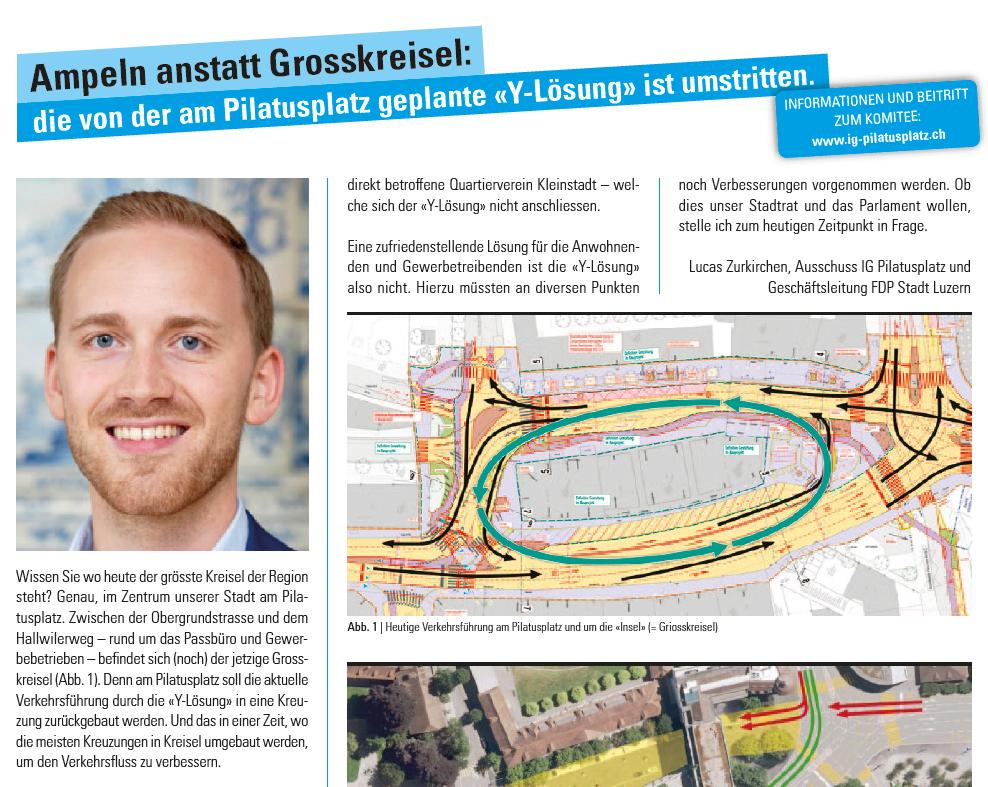 Ampeln anstatt Grosskreisel: die am Pilatusplatz geplante «Y-Lösung» ist umstritten